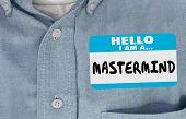 Mastermind Name Tag Sticker Genius Smart Person 3d Illustration poster