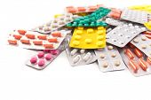 packs of medical pills and tablets