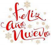 Feliz Ano Nuevo Text Translation From Spanish poster