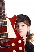 Tween Rocker With Her Guitar