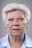 Close up portrait of a elderly woman