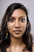 Indian woman face, high detail portrait