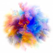 Energy Of Colorful Paint Splash Explosion poster