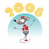 cartoon Mouse with Cheese 2008