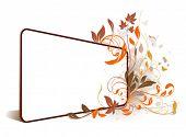flower perspective frame