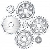 vector illustration of vector gears