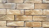Background Material Decorative Material The Wall Is Patterned Like A Light Brown Brick. poster