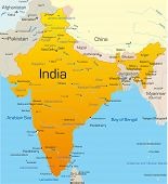 Vector map of India country
