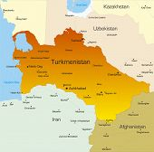 Vector color map of Turkmenistan country