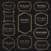 Set Of Dividers Vintage Frames, Vintage Labels. Vector Illustration poster