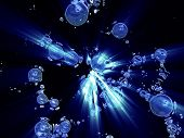 Fantasy Blue Distorted Global Particles