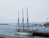 Old Sailing Ship In Oslo, Norway