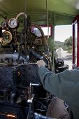 Engineer Operatin Steam Locomotive