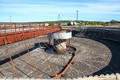 Empty Huge Round Form Sedimentation Settler Tank