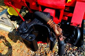 picture of caboose  - This picture of a train coupler on a caboose was taken in Wartrace - JPG