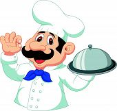 Chef cartoon with ok sign