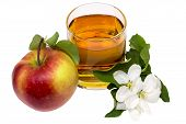 foto of cider apples  - Glass of apple juice - JPG