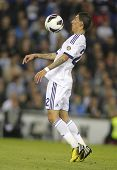 BARCELONA - MAY, 11: Angel Di Maria of Real Madrid during the Spanish League match between Espanyol and Real Madrid at the Estadi Cornella on May 11, 2013 in Barcelona, Spain