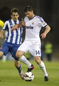 BARCELONA - MAY, 11: Xabi Alonso of Real Madrid during the Spanish League match between Espanyol and