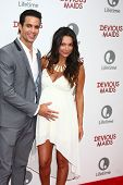 LOS ANGELES - JUN 17:  Matt Cedeno, Erica Franco arrives at the