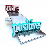 stock photo of positive negative  - The positives outweigh the negatives in this optimistic image - JPG