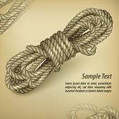Coil Of Rope On Rown & Text