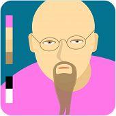 foto of exaltation  - Bald man with a beard - JPG