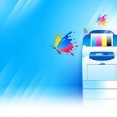 picture of peripherals  - vector printer background abstract blue texture cmyk print - JPG