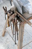 stock photo of blacksmith shop  - Blacksmith working tool  - JPG
