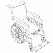 Wheelchair Outline Vector.eps