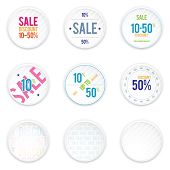 Sale White Shadowy Labels