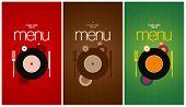 Music Cafe Menu Card Design template.