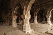Colonnade Of Medieval Monastery