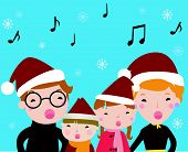 Family carolers