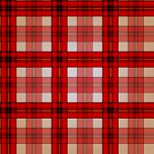 Festive Red Checkered Seamless Pattern
