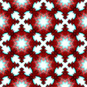 Red Festive Christmas Star Seamless Pattern
