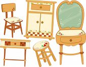 Illustration of Country Furniture Design Elements