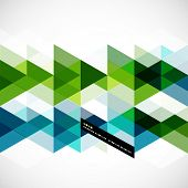 image of letterhead  - Modern geometrical abstract vector template - JPG