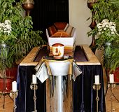 picture of mortuary  - empty coffin in the cementery  - JPG