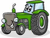 Tractor Character Cartoon Illustration