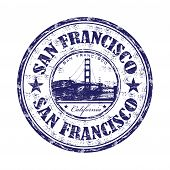 San Francisco grunge rubber stamp