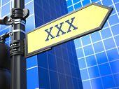 XXX Concept on Yellow Roadsign.