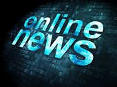 News concept: Online News on digital background