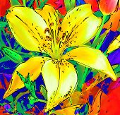 Stylised Floral Background... poster