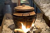 Clay Pot Over Fire