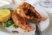 foto of fantail  - Large shrimp oreganata dish is a favorite in restaurants - JPG