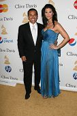 Antonio Villaraigosa and Lu Parker at the Clive Davis Pre-Grammy Awards Party, Beverly Hilton Hotel, Beverly Hills, CA. 02-12-11