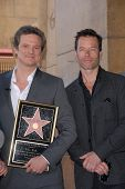 Colin Firth and Guy Pearce at the indiction ceremony for Colin Firth into the Hollywood Walk of Fame, Hollywood, CA. 01-13-11
