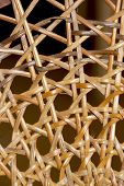 Closeup Abstract Of Patterns And Wicker Weave On Chair