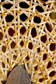 Extrme Closeup Of Wicker Weave On Chair